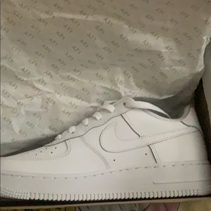 Nike All White Airforce 1s